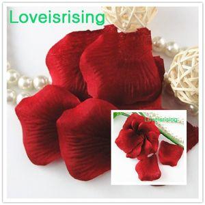 Frete Grátis-Hot Sale 10 packs (1440 pcs) Vermelho Crimson Não-Tecido Artificial Rose Flor Pétala Para O Partido Do Casamento Favor Decoração