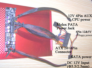 250W DC-DC 12V ITX Alimentazione | Materiali ATOM HTPC AUTO AUTO mini mico PC picoPSU ATX