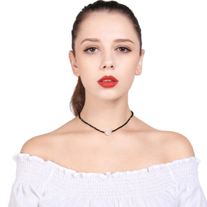 European style handmade string beads exaggerated pearls women's chokers necklaces fashion short link chain necklaces jewelry accessories