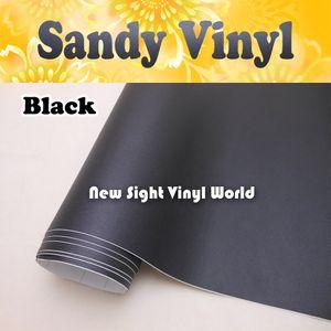 Sandy Siyah Vinil Filmi Rulo Wrap Hava Ücretsiz Araç Dizüstü Bilgisayarı için Boyutu: 1.52 * 30M / Rulo (5ft x 98ft)