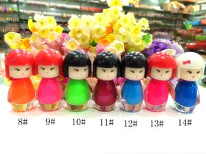 wholesale Cool Dan doll head nail polish candy color paillette the transparent black vial 46 color Nail Polish