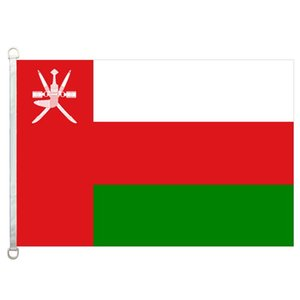 Buona bandiera Oman Flags Banner 3X5FT-90x150cm 100% poliestere bandiere di paesi, 110gsm ordito tessuto a maglia bandiera esterna