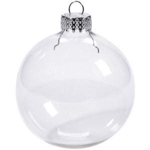 "Wedding Bauble Ornaments Christmas Xmas Glass Balls Decoration 80mm Christmas Balls Clear Glass Wedding balls 3""   80mm Christmas Ornaments"