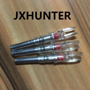 3PK cor vermelha automática X 5.3 caça tiro com arco iluminado levou luz seta nocks para ID 5.3mm setas