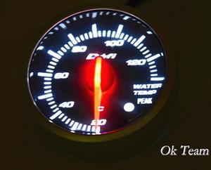 유니버설 카 오토 게이지 수온 PSI 압력 진공 게이지 미터 화이트 레드 라이트 LED 뉴