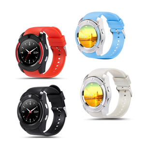 V8 Smartwatch Bluetooth Smart Watch con 0,3 M Fotocamera SIM e TF Card Slot Orologi per Samsung Android S8 Apple IOS Iphone Smartphone