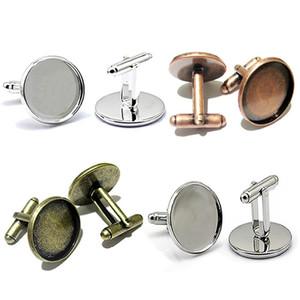Beadsnice cupones de cobre piezas en blanco fabricación de joyas piezas de diseño con 20mm redondo bisel taza ID 8898