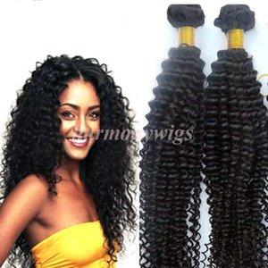 Nerz Virgin Hair Extensions Brasilianisches Haar bündelt verworrene lockige Schüsse Unverarbeitete peruanische indische malaysische mongolische Haarwebart Großhändler