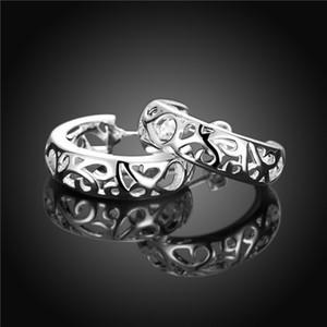 Совершенно новый стерлингового серебра покрытием пирсинг серьги полукруг DFMSE630, женские 925 серебряные мотаться люстра серьги 10 пар много
