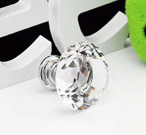 Großhandel Neue 20 teile / los 30mm Diamant Form sechs farben Kristall Glasschrank Griff Schrank Schublade Knopf Pull
