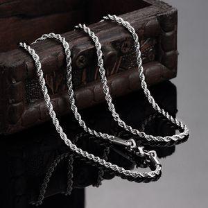 La collana della catena della corda torta dell'acciaio inossidabile 316L di alta qualità 2MM 18-24inches i monili unisex di modo liberano il trasporto