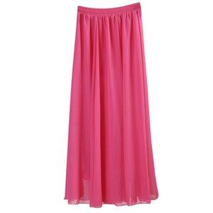 Оптово Оптовая Женщины шифон Длинные юбки цвета конфеты плиссированные макси юбки 2017 весна лето юбки SAIA feminina Solid Faldas