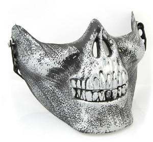 IMC Toptan Yeni Korkunç Maske Kafatası İskelet Airsoft Paintball Yarım Yüz Koruyucu Maske Cadılar Bayramı Maskaralar CS Oyunları Için sipariş $ 18no parça