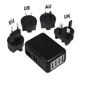 EU / US / UK 플러그 4 포트 USB 5V 6A 벽 충전기 전원 어댑터 멀티 포트 충전기 휴대용