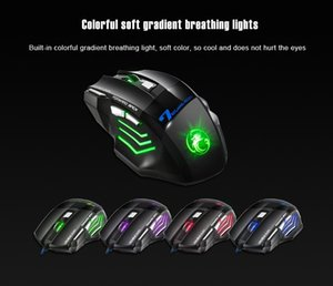 Free Shipping Hot Sale gaming mouse wired USB computer mouse game mouse gamer 800/1200/1600/2400 DPI adjustable 7D LED optical for laptop PC