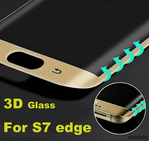 Samsung S7 Edge S7 Edge Plus 3D Screen Protector Tempered Glass Curved Colorful Full Front Metal Color 9H Anti-scratch Screen Protector