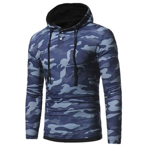 2017 autumn and winter men's new camouflage casual hooded hoodie long-sleeved T-shirt fashion warm bottoming shirt