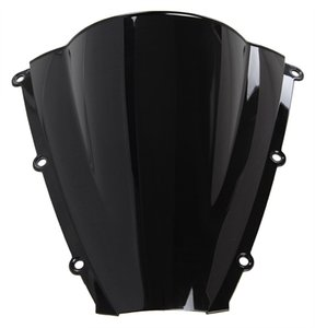 Motorcycle Double Windscreen Windshield bolha para 2003-2004 Honda CBR600RR F5 03 04 Preto