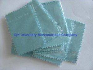 200 unids 10 * 7 cm paño polaco de plata para plata joyería oro limpiador azul rosa colores verdes opción mejor calidad