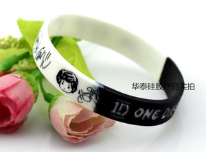1D One Direction pulsera de silicona Debossed color llena pulsera banda 13 colores