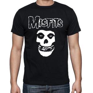 Gros-Top Qualité Motif Misfits T-shirt Mâle Manches Courtes Col Rond Cool Skull Hommes t-shirts Impression Ajusté Garçon Tee Shirts