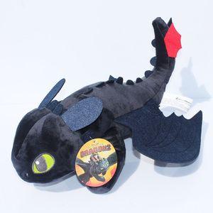 """9"""" 22cm Drachenzähmen 2 zahnlos Night Fury Plüschspielzeug Soft Stuffed Dolls Super-Weihnachtsgeschenke Zähmen"""