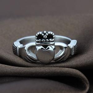 Claddagh bague Irlande bague de mariage couronne coeur vintage pour les femmes bijoux en plaqué argent