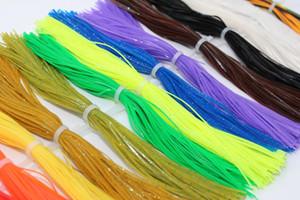 Tigofly 16 paquetes 13 cm Silicona Faldas Piernas Color liso Perla Hojalata Spinnerbait Buzzbait Calamar Hilo de goma Materiales para atar moscas