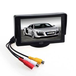 Novo carro 4.3 'TFT LCD Color Rearview Monitor para DVD GPS câmera de backup reversa