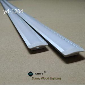 Livraison gratuite 10set / lot 2 m conduit profilé en aluminium pour la lumière bar conduit, le canal en aluminium bande de LED, boîtier en aluminium étanche YD-1204