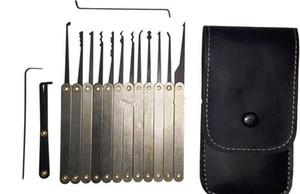 ذائع 12 قطع هوك اللقطات قفل اختيار مجموعات الفولاذ مقابض ث / حقيبة إزالة كسر مفتاح أداة أدوات الأقفال lockpick دروبشيبينغ