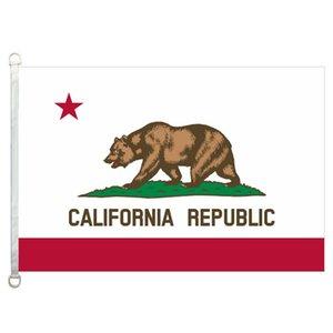 Bandeira da bandeira de Califórnia 3X5FT-90x150cm 100% Poliéster, 110gsm Urdidura Malha Tecido Bandeira Ao Ar Livre