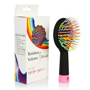 Mode-Design Multicolor Kamm Magie Haarbürste Friseursalon Kamm Rainbow Haarbürste Anti-Verwicklung Pinsel Massagekamm