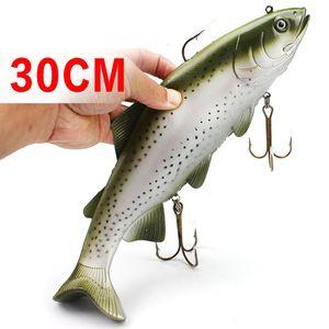 Pesca d'altura Big Fish Artificial Lure 20cm / 135g 30cm / 400g Ocean Boat Catch Grey Dot Soft Bait
