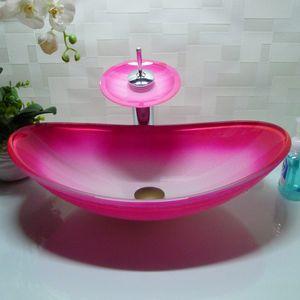 Ванная комната закаленное стекло раковина ручной работы столешница в форме лодки бассейна умывальники гардероб шампунь судно раковина HX014