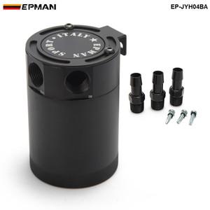 EPMAN - Boîte de stockage de réservoir d'huile / séparateur air-huile en aluminium à chicanes en aluminium à chicanes pour voiture Stying Racing EP-JYH04BA, noir