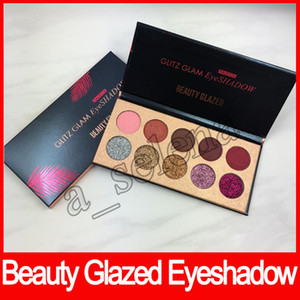 حار بيع الجمال Glazed Glitz Glam Eyeshadow Palette Set 5 Glitter 5 Matte Eye shadow DHL شحن مجاني
