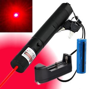 Haute Puissance Rouge Stylo Pointeur Laser 10Miles 5wm 650nm Militaire Puissant Laser Rouge Jouet Chat +18650 Batterie + Chargeur