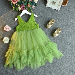 Bebek Çiçek Kız Elbise Prenses Dantel Tül Tutu Backless Kıyafeti Örgün Parti Elbise Düğün TUTU V Boyun Elbiseler