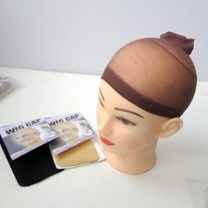 2pcs / 1Set 머리 가발 착용자를위한 우수한 품질 디럭스 가발 모자 빗장 검은 색 베이지 갈색 옵션