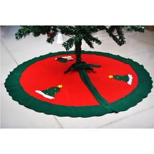 Venta al por mayor - 90cm Snowman Tree Skirt Nonwovens Suministros de Navidad decoraciones de navidad falda de árbol para el hogar