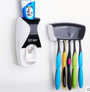 Dispenser di Dentifricio Automatico originale Porta Spazzolino Dentifricio Tubo Dispenser Dispenser Spazzolino Titolare Scatola Rack A294