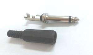 "50pcs 6.35mm Male TRS 1 4"" Mono Jack Audio Plug adapter connector"