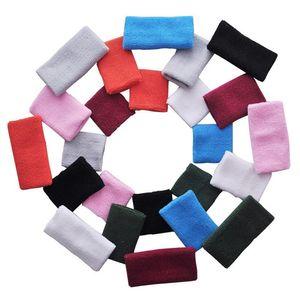 8 * 8 cm Tower Wristband Tenis / Baloncesto / Bádminton Muñequera Soporte Deportes Protector Sweatband 100% algodón Gym Wrist Guard LT001