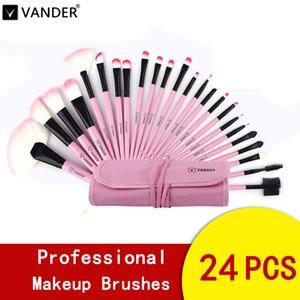 مجموعة فرش مكياج Pincel Maquiagem Vander 24pcs متعددة الأغراض للمحترفين