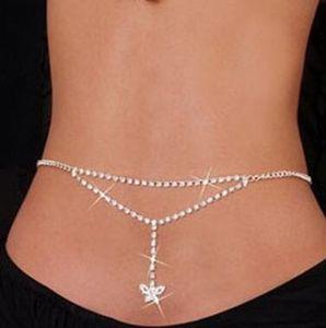 BUTTERFLY Taille Kette Kristall Diamant Körperkette glänzend können Sie es tragen oder unter Kleidung sehr heiß und glänzend Design