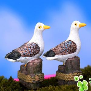 5 adet Minyatür Yapay güvercinler Kuş Reçine Peri Bahçe Dekorasyon Mini Dünya Peyzaj Teraryum Süs Zakka Martı Craft