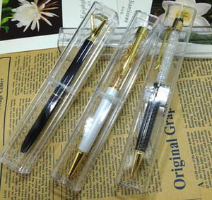 50pcs al por mayor de la venta directa de fábrica para la caja de la pluma caja de lápiz de la pluma cristalina del bolígrafo regalo del caso del suministro de pluma Papel de la escuela