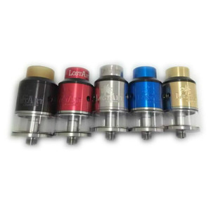 Neueste Goon 528 Lostart RDTA 24 MM Zerstäuber mit Wide Bore Tropfspitze Fit 18650 Batterie Vape Mods VS GOON LP RDA RTA DHL frei