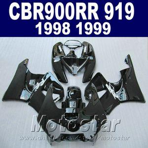 Kit de carenado de alta calidad para carenado Honda CBR900 RR 98 99 CBR900RR conjunto de motocicleta negro brillante CBR919 1998 1999 QD33